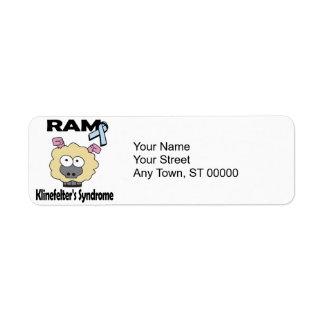 RAM Klinefelters Syndrome Label
