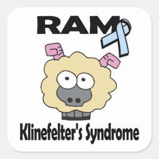 RAM Klinefelters Syndrome Square Sticker