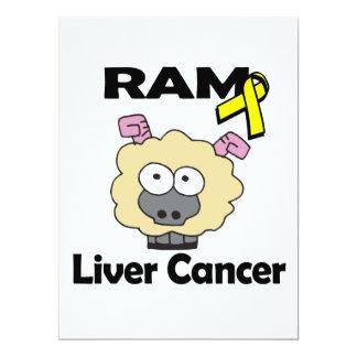 RAM Liver Cancer 6.5x8.75 Paper Invitation Card