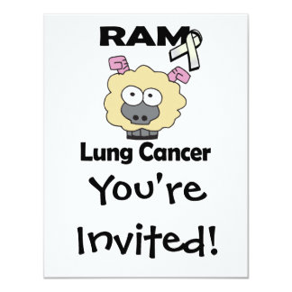 RAM Lung Cancer 4.25x5.5 Paper Invitation Card