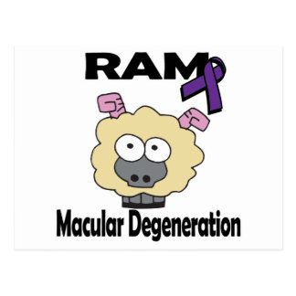 RAM Macular Degeneration Postcard