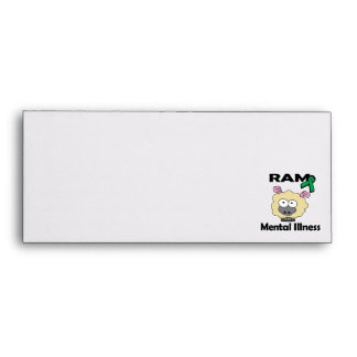 RAM Mental Illness (green) Envelopes