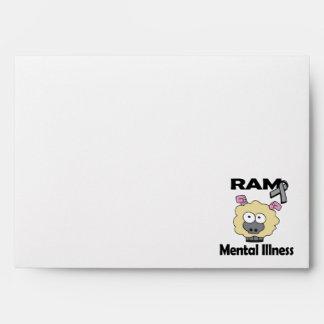 RAM Mental Illness (grey) Envelopes