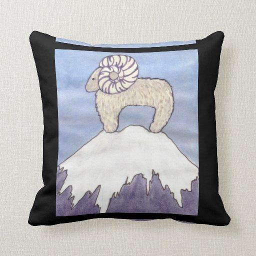 ram on BLACK pillow