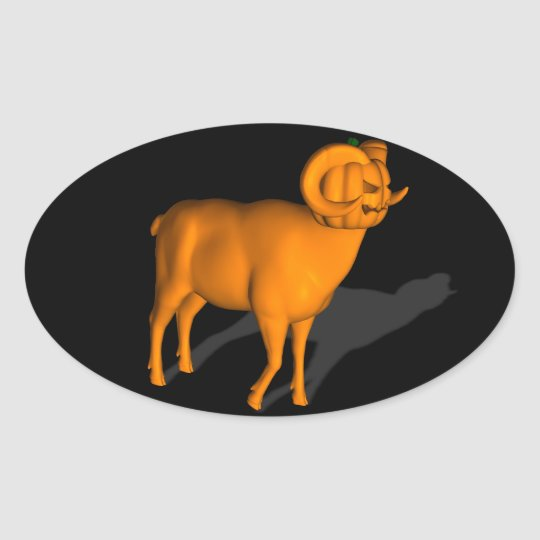 Ram Oval Sticker