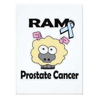 RAM Prostate Cancer 6.5x8.75 Paper Invitation Card
