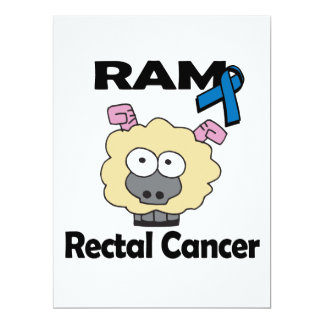 RAM Rectal Cancer 6.5x8.75 Paper Invitation Card