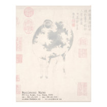 Ram Sheep Goat Chinese New Year Zodiac Letterhead