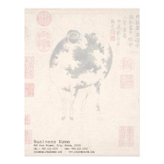 Ram Sheep Goat Chinese New Year Zodiac Letterhead