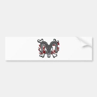 Ram skull art v1 car bumper sticker