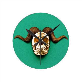 Ram Skull Wall Clocks