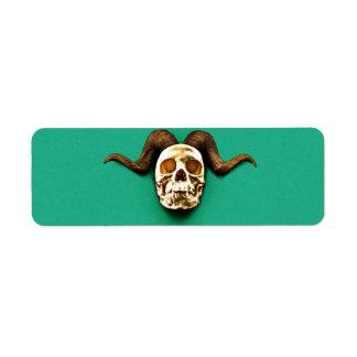 Ram Skull Label