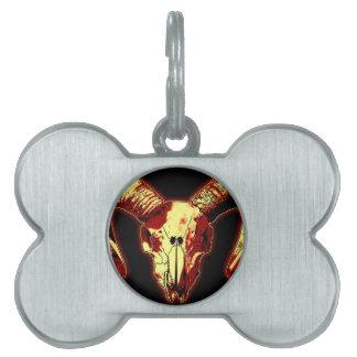 Ram Skull Pet Tag