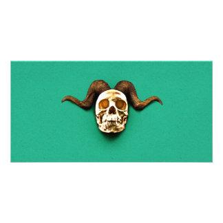 Ram Skull Photo Card