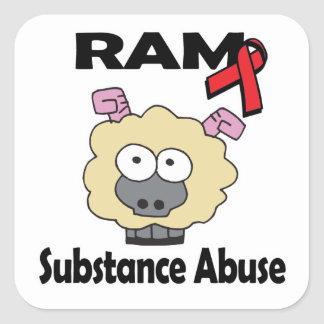 RAM Substance Abuse Square Sticker