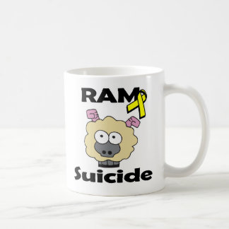 RAM Suicide Classic White Coffee Mug