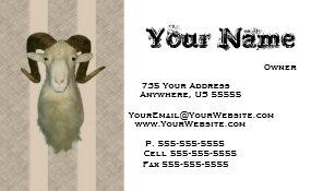 Taxidermist business cards templates zazzle ram taxidermy business cards colourmoves