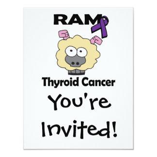 RAM Thyroid Cancer 4.25x5.5 Paper Invitation Card