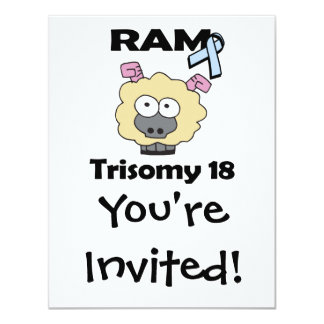 RAM Trisomy 18 4.25x5.5 Paper Invitation Card