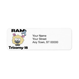 RAM Trisomy 18 Return Address Label