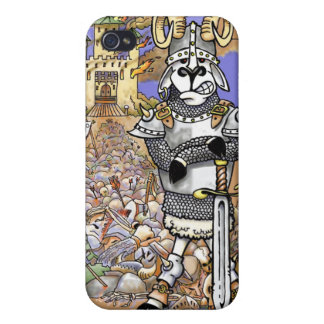 Ram Warrior Armor Castle Sheep Savage Medieval Art iPhone 4 Cover