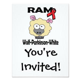 RAM Wolf-Parkinson-White 4.25x5.5 Paper Invitation Card