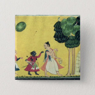 Rama and Lakshmana accompanied by Visvamitra Button
