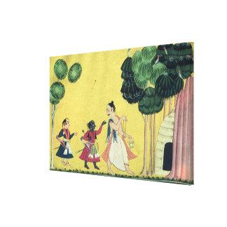 Rama and Lakshmana accompanied by Visvamitra Canvas Print