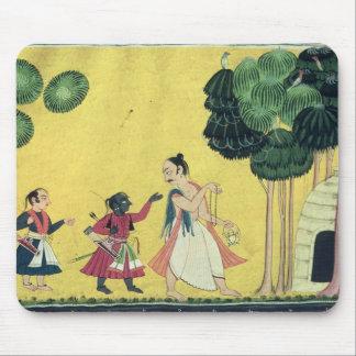 Rama and Lakshmana accompanied by Visvamitra Mouse Pad