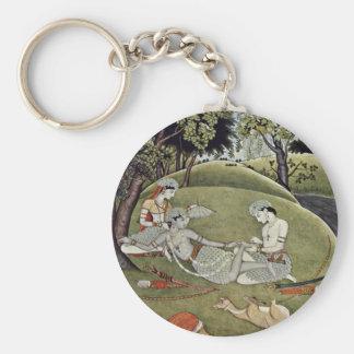 Rama And Sata In The Forest By Indischer Maler Von Key Chains