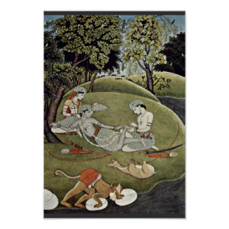 Rama And Sata In The Forest By Indischer Maler Von Posters