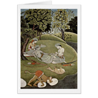 Rama And Sita In The Forest By Indian Artist Cards