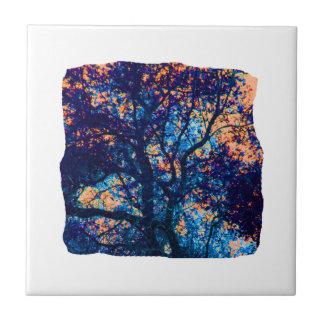 Rama azul anaranjada del extracto del roble azulejo cuadrado pequeño
