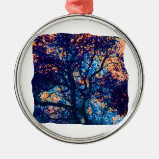 Rama azul anaranjada del extracto del roble ornamentos de reyes magos