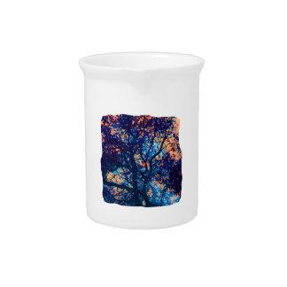 Rama azul anaranjada del extracto del roble jarrones