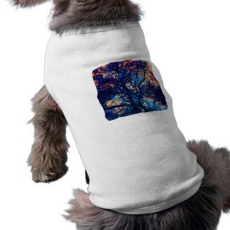Rama azul anaranjada del extracto del roble camisa de perrito