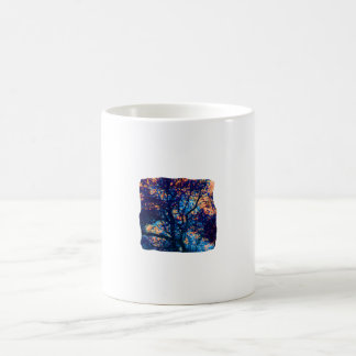 Rama azul anaranjada del extracto del roble taza