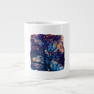 Rama azul anaranjada del extracto del roble taza extra grande