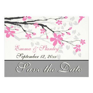 Rama con los flores rosados que casan reserva la f comunicados