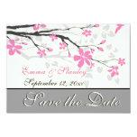 Rama con los flores rosados que casan reserva la invitación 11,4 x 15,8 cm