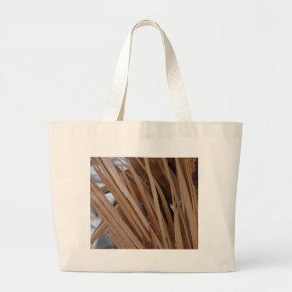 Rama de árbol agrietada bolsa tela grande