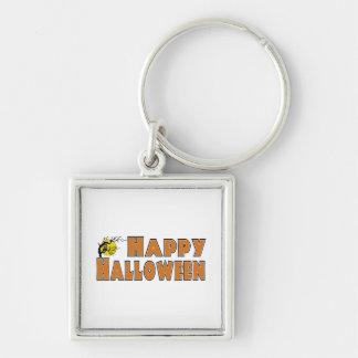 Rama de árbol del búho del feliz Halloween Llaveros Personalizados