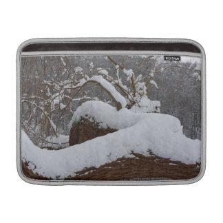 rama de árbol nevada funda macbook air