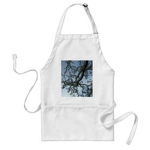 Rama de árbol Nevado Delantal