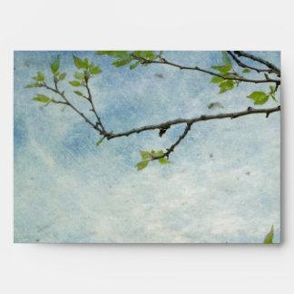 Rama de árbol sobre el cielo texturizado