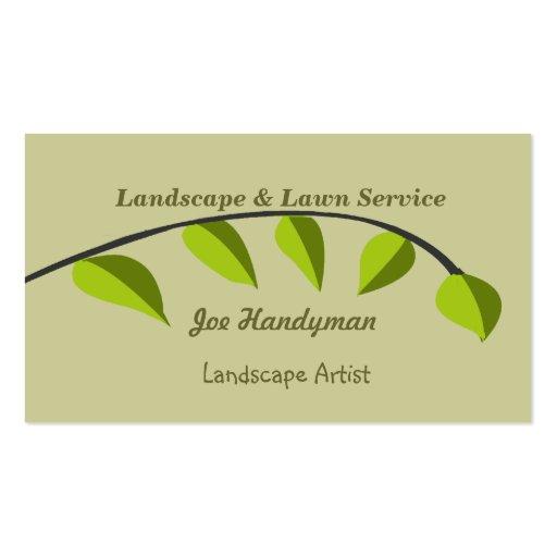 Rama   de árbol verde orgánica tarjetas de visita