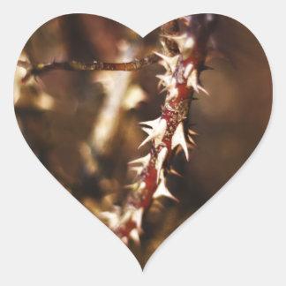 Rama de espinas calcomanía de corazón personalizadas