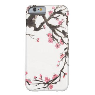 rama de la flor de cerezo del caso del iPhone 6 Funda De iPhone 6 Barely There