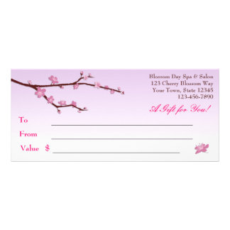 Rama de la flor de cerezo vale de la lila lona publicitaria