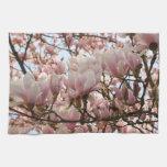 rama de la magnolia toalla de mano